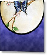 Butterfly Moon Metal Print