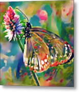 Butterfly Of Paradise 1 Metal Print