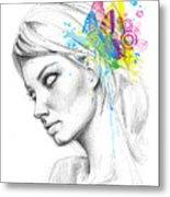 Butterfly Queen Metal Print