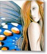 Butterfly Rush Take1 Metal Print by Patricia Ann Dees
