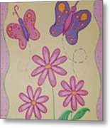 Butterfly Smiles Metal Print
