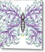 Butterfly Tattoo 2 Metal Print by Karen Musick