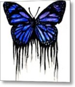 Butterfly Tears Metal Print