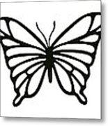 Butterfly Trio  Metal Print
