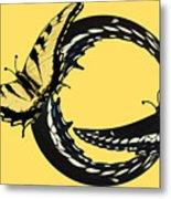 Butterfly Twist Metal Print