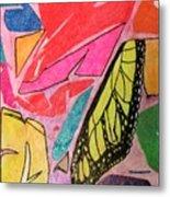 Butterfly Wing Metal Print