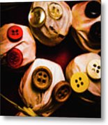 Button Sack Lollypop Monsters Metal Print