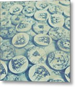Button Seas Metal Print