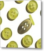Button Up Metal Print