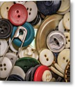Buttons And Buttons Metal Print