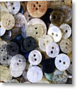 Buttons In Grunge Style Metal Print