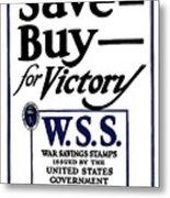 Buy For Victory Metal Print