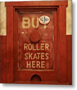 Buy Skates Here Metal Print by Brenda Conrad