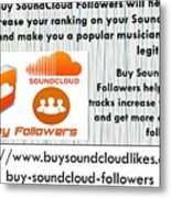 Buy Soundcloud Followers For Audience Attention- Buysoundcloudlikes Metal Print