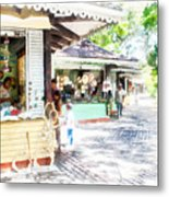 Buying Items In These Shops On The Street Metal Print