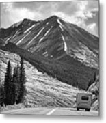 Bw Mobile Home Travel Alaska  Metal Print