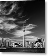 Bw Skyline Of Toronto Metal Print