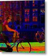 By Bicycle Amsterdam Metal Print