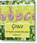 By Grace Metal Print