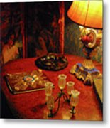 By Lamplight Metal Print