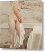 By The Bath Tub Metal Print