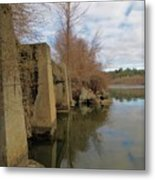 By The Bridge Metal Print