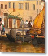 By The Canal Metal Print
