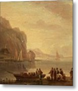 By The Coast Metal Print