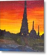 By The Ganga Metal Print