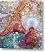 By The Light Of The Full Moon Metal Print