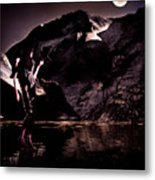 By The Moon Metal Print