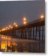 By The Pier Metal Print