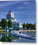 By The Port Montreal Metal Print