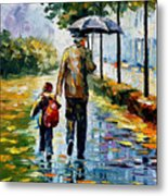 By The Rain Metal Print