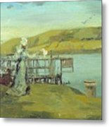 By The Sea Swanage Metal Print
