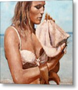 By The Seaside Metal Print