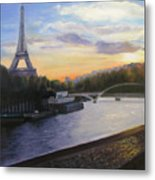 By The Seine Metal Print