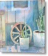 By The Side Of The Shed Metal Print