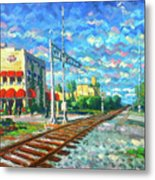 By the Tracks at Delray Metal Print