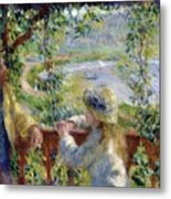 By The Water Near The Lake Metal Print