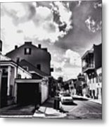 Bywater In Black And White Metal Print