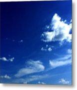 Byzantine Blue Skies With Clouds Metal Print