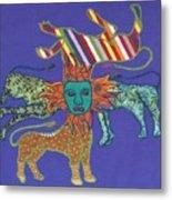 Byzantine Lion Metal Print