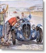 c 1949 the delahaye 135 s driven by giraud and gabantous Roy Rob Metal Print