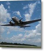 C-47 Dakota Low Pass Over Jekyll Island Airport. 2015 Metal Print
