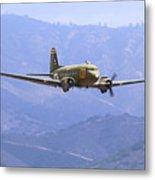 C-47 Gooney Bird At Salinas Metal Print
