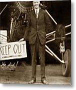 Charles A. Lindbergh And Spirit Of St. Louis 1927 Metal Print