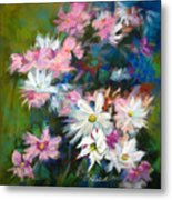C And D  Cosmos And Daisy That Is Metal Print