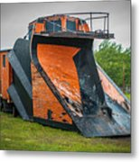 C And H Railroad Snowplow Metal Print