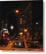 Cab New York Metal Print